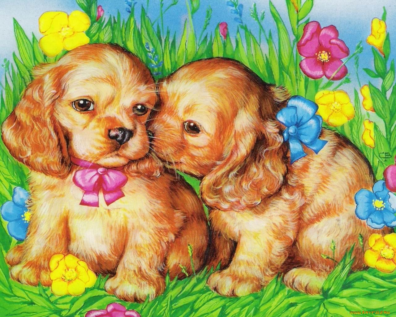 открытка семья собака можно использовать любой